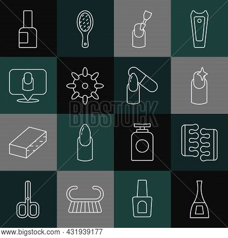 Set Line Bottle Of Nail Polish, Toe Separator For Pedicure, Nail Manicure, Milling Cutter, False Nai
