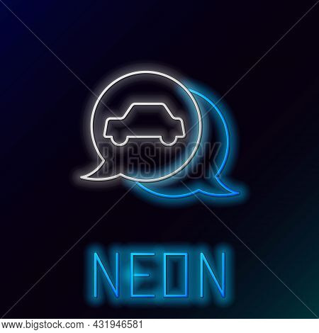 Glowing Neon Line Car Service Icon Isolated On Black Background. Auto Mechanic Service. Repair Servi