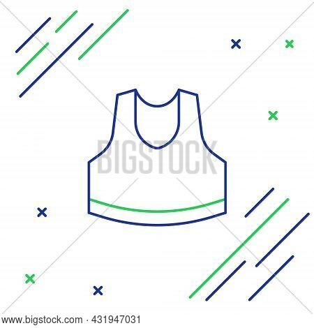 Line Undershirt Icon Isolated On White Background. Colorful Outline Concept. Vector