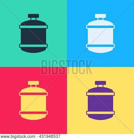Pop Art Propane Gas Tank Icon Isolated On Color Background. Flammable Gas Tank Icon. Vector