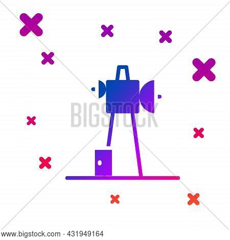 Color Antenna Icon Isolated On White Background. Radio Antenna Wireless. Technology And Network Sign