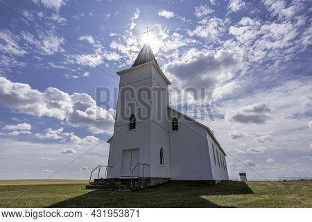 The Historic Yet Abandoned St. Anthony Roman Catholic Church In Illerbrun, Sk Near Gull Lake, Sk