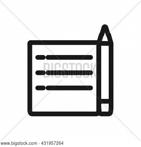 Document Line Icon. Edit Document Isolated Simple Vector Icon