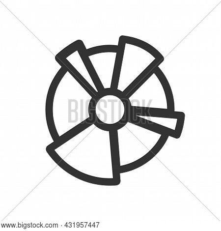 Pie Chart Line Icon. Pie Chart Isolated Simple Vector Icon