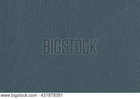 Blue Creased Leather Textured Background High Quality Photo
