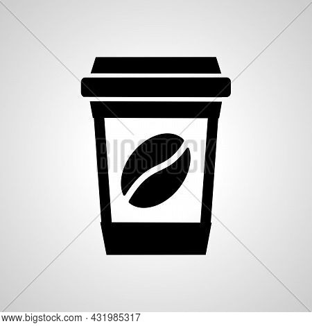 Coffee Cup Simple Icon. Disposable Cup Vector Icon. Take Away Coffee Cup Icon