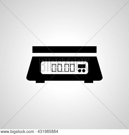 Electronic Scales Line Icon, Scales Simple Isolated Icon