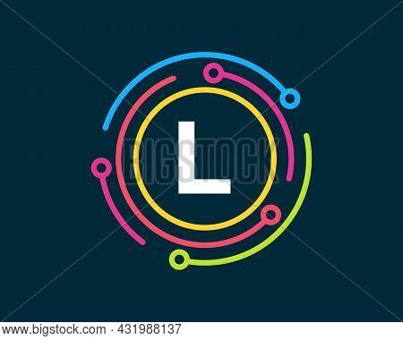 Technology Logo Design With L Letter Concept. Letter L Technology Logo. Network Logo Design