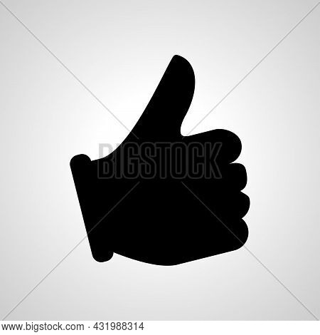 Like Icon, Hand Like Simple Vector Icon