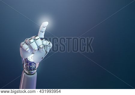 Cyborg Hand 3d Background, Technology Of Artificial Intelligence