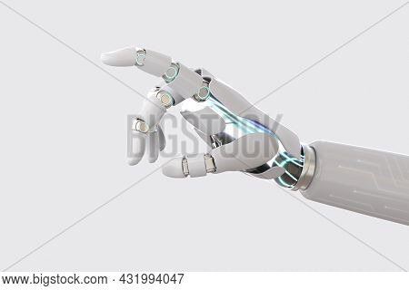 Cyborg Hand Finger Background, Technology Of Artificial Intelligence