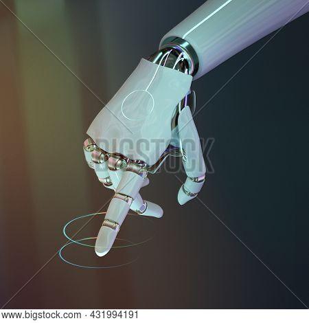 Cyborg Hand Finger Moving, Artificial Intelligence Dexterous Robot