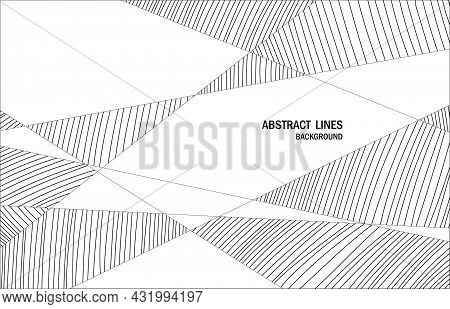 Abstract Lines Shape Style Artwork With Space Of Texture. Decorative For Ad, Poster, Header Text Bac