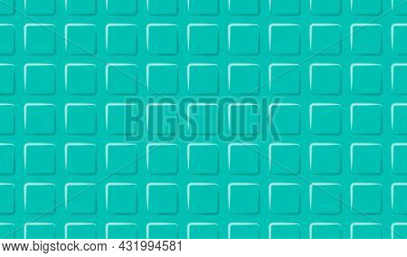 Green Geometric Background With 3d Squares. Simple Shapes Backdrop