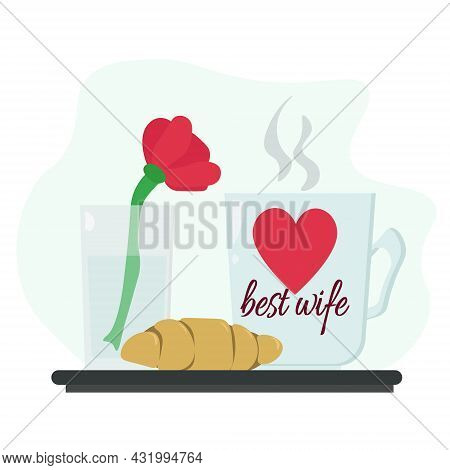 Wife Appreciation Day, Idea For A Banner Or Postcard For The Holiday Vector Illustration