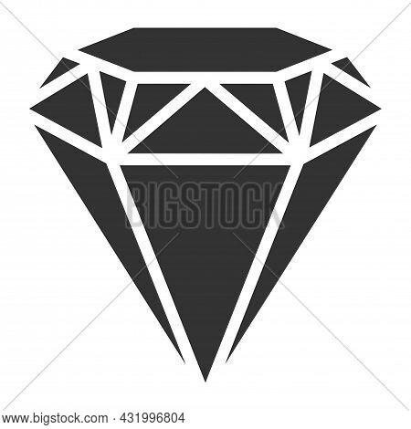 Diamond Vector Icon. Diamond Gems Vector Icon. A Symbol Of Luxury And Wealth. Vekutory Illustration