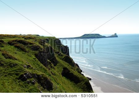 Worms Head View At The Gower