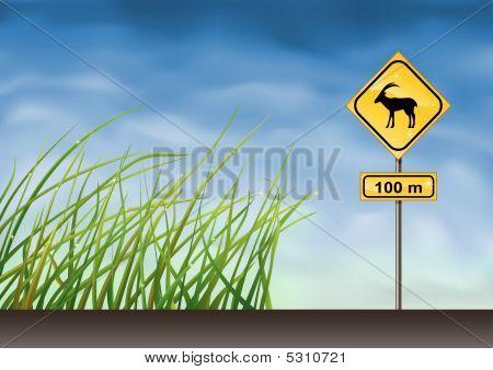 Goats Warning Sign