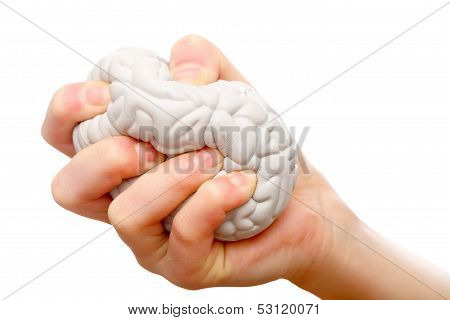 Stress ball help to relieve the stress and muscle tension poster