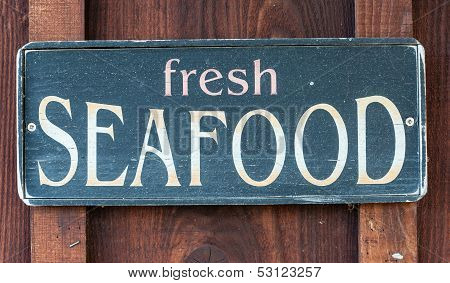 Fresh Seafood Restaurant Sign