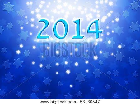 New Year Background With Magen David Stars