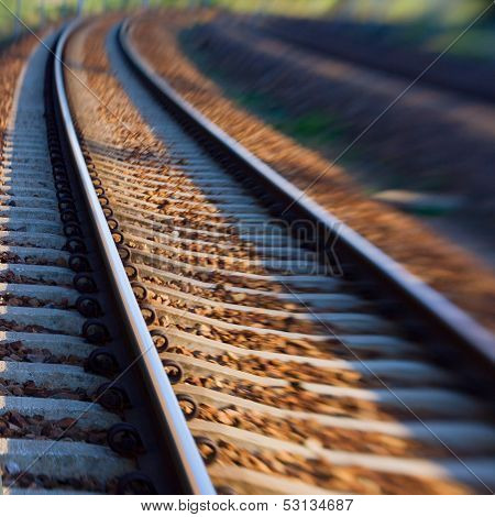 Blur of railway  track
