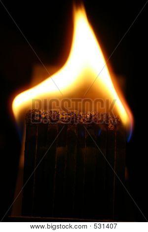 Matchbook On Fire