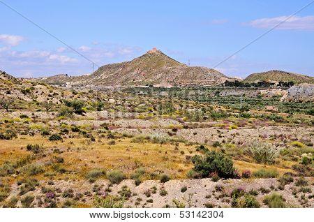 Desert landscape, Tabernas, Spain.