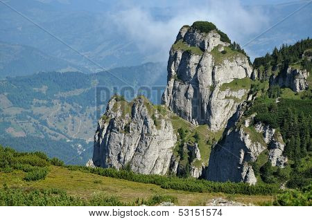 The Ceahlau massif, Eastern Carpathians, Moldova, Romania poster