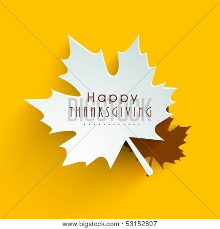 Happy Thanksgiving Day background with beautiful autumn maple leaves, can be use as flyer, banner or poster.  poster