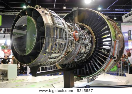 Genx Jet Engine, Rare View