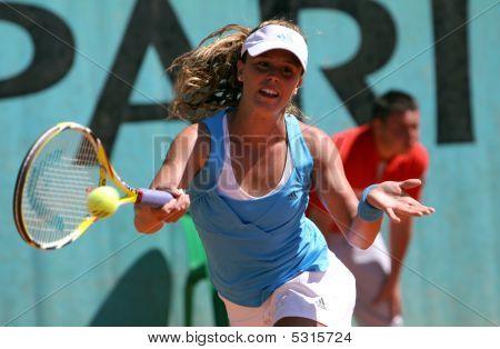 Michelle Larcher De Brito (por) At Roland Garros 2009