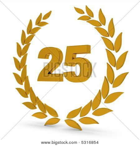 25Th Anniversary Golden Laurel Wreath