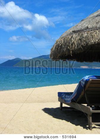 Beach Hut And Lounger