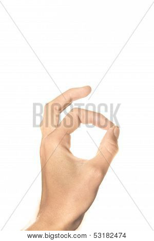Woman hand ok sign