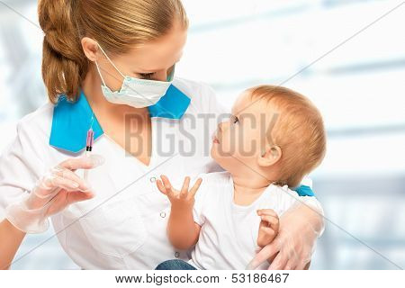 Doctor Does Injection Child