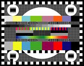 Test Tv Screen. Color card. Test TV screen, animated television test poster