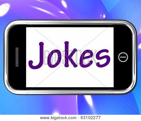 Jokes Smartphone Means Humour And Laughs On Web