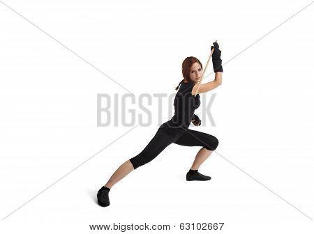 Woman Fencing