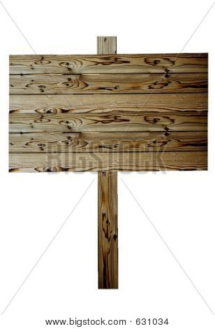 Beautiful Wood Fence Sign