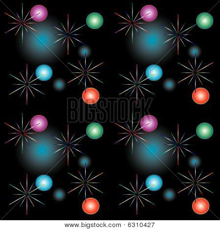 Seamless background with festive lights