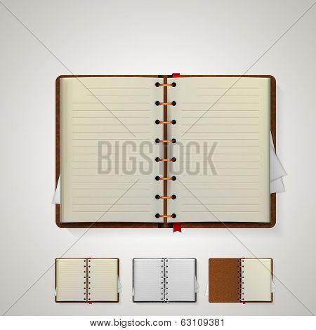 Illustration of notebooks