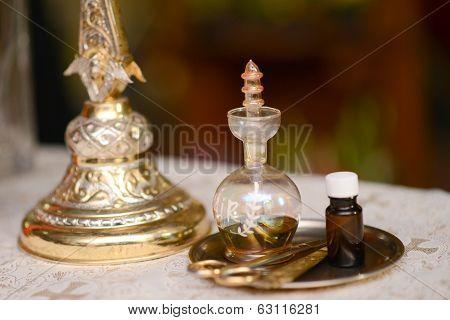 Oil Prepared For Baptism Baby