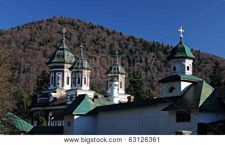 Sinaia Monastery, in Sinaia, Prahova County, Romania. poster
