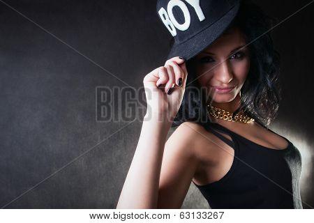 Sexy Brunette. Swag Girl