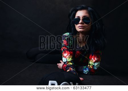 Sexy Brunette In Glasses