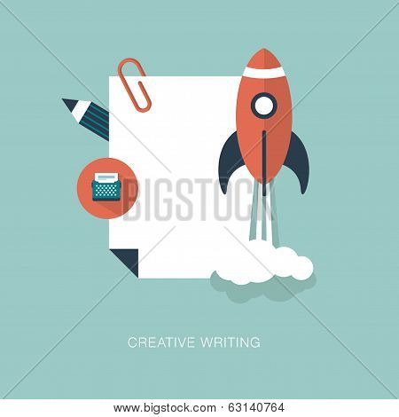 vector creative writing concept illustration