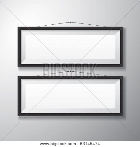 Picture Frames Black Horizontal