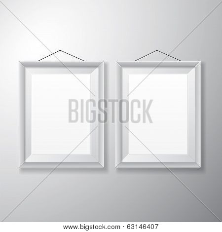 Picture Frames White Vertical