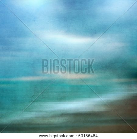 Abstract Sea Seascape With Blurred Panning Motion